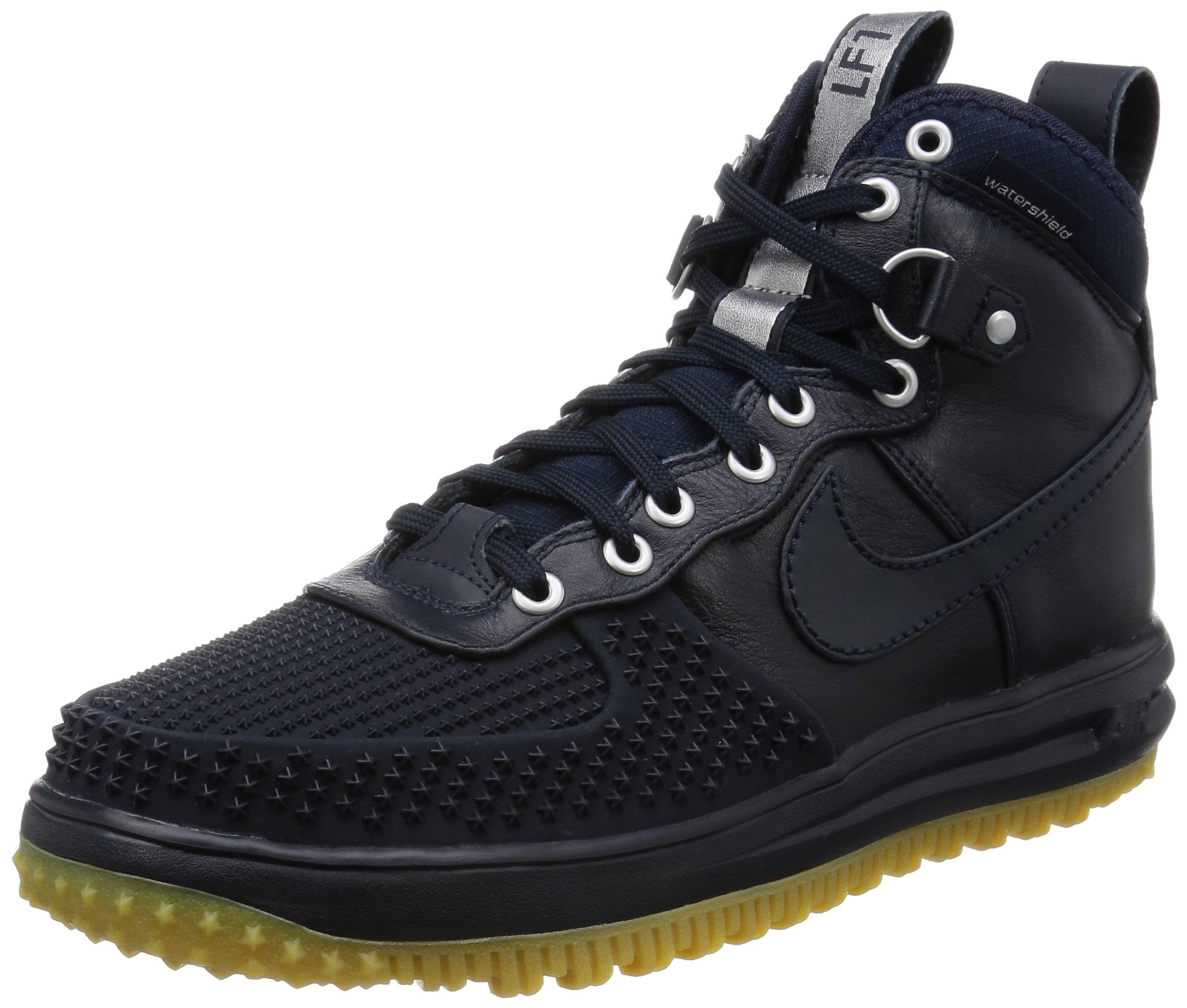 Nike Men's Lunar Force 1 Duckboot Dark Obsidian/Dark Obsidian Boot 9 Men US by NIKE