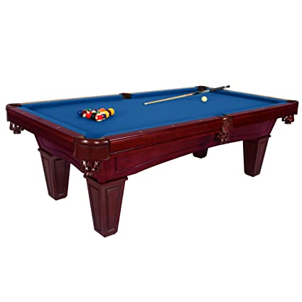 Harvil Toscana Black Cherry Slate Pool Table 8 Foot With Blue Felt.  Includes On