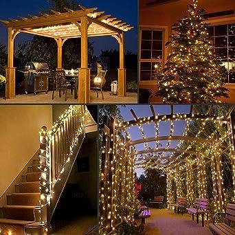 Guirnalda led de 22m 200 LED Blanco cálido - Guirnalda de alambre de cobre impermeable, Decoración de fiestas.