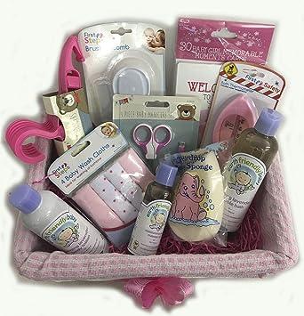 Bebé de lujo de la niña Cesto cesta del regalo para baby shower o nueva llegada (despachados desde Reino Unido): Amazon.es: Bebé