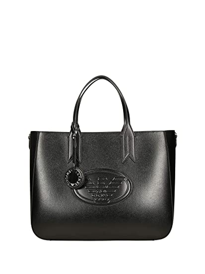 de1be6f326a5 EMPORIO ARMANI FRIDA EAGLE TOTE BAG Y3D082YH18A-80001 NERO  Amazon.co.uk   Luggage