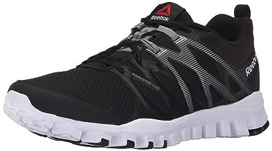 quality design 54153 36ebf Reebok Men s Realflex Train 4.0 Running Shoe, Black Flat Grey White, 9.5