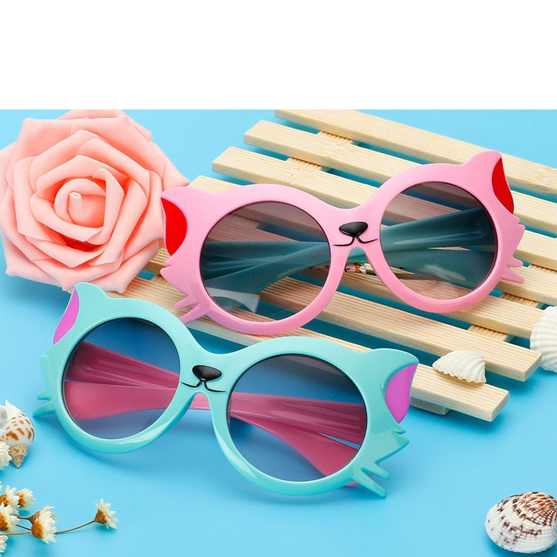Amazon.com: Gafas de sol para niños, orejas de gato, espejo ...