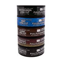 Fully Loaded Chew Tobacco and Nicotine Free Sampler Pack Bullseye Long Cut 5 Varieties of Flavor, Chewing Alternative