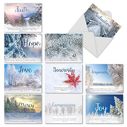 Amazon 10 assorted holiday devotions christmas cards with 10 assorted holiday devotions christmas cards with envelopes mini 4 x 525 m4hsunfo