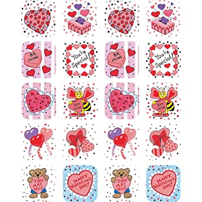 Teacher Created Resources Valentine's Day Stickers, Multi Color (1258): Office Products
