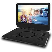 ODYS Furo 便携式 DVD 播放器带22.9厘米 (9英寸) 旋转显示屏 (高分辨率数字 TFT 显示屏 (800 x 480像素), SD 卡插槽, USB 2.0) 10 Zoll Schwarz X820025