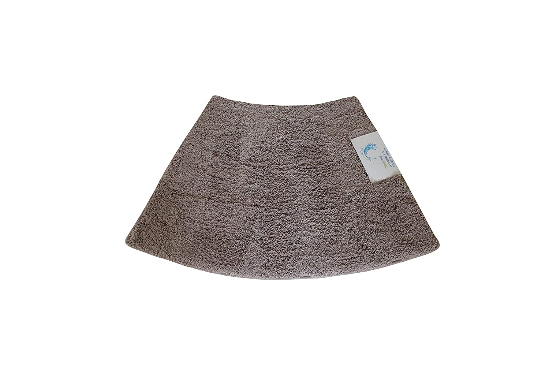 Cazsplash Luxury Quadrant Small Curved Shower Mat, Microfibre, Stone, 77 x 45 x 2.5 cm 706502080280