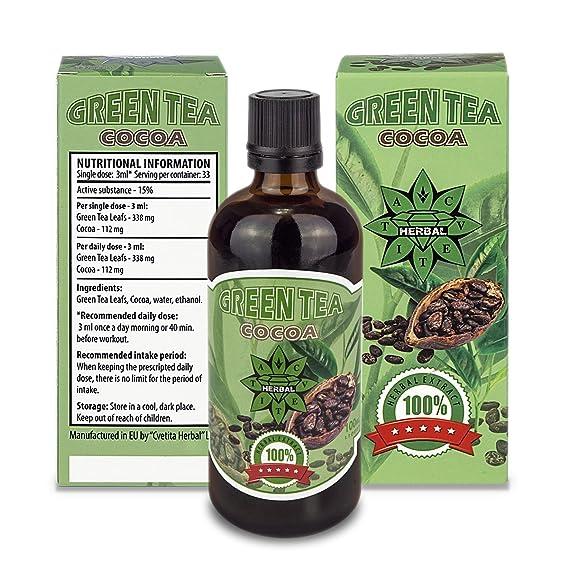 Cvetita Herbal - Té verde + Cacao - DetoxNatural de hierbas quemador de grasas. Ayuda a la Pérdida y control de peso - 100ml: Amazon.es: Salud y cuidado ...
