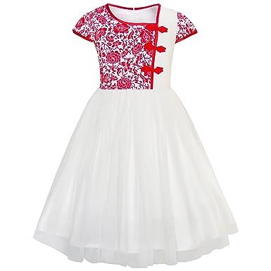 KA41 Girls Dress Vintage Color Block Cap Sleeve Birthday Party Size 4