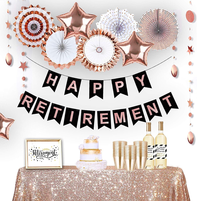 Congrats Retirement banner Party DecorationWall Banner Happy retirement banner Retirement party