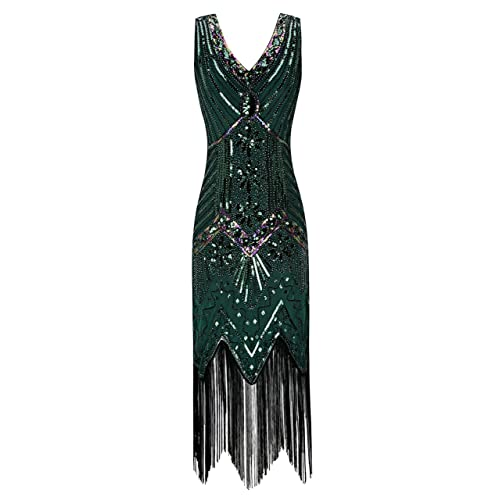 metme womens 1920s v neck beaded fringed gatsby theme flapper dress for prom