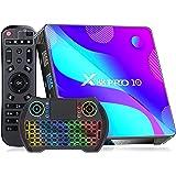 Android TV Box , [2021 Newest] X88 PRO 10 Android TV Box10.0 4GB RAM 32GB ROM with Wireless Mini Keyboard, RK3318 Quad-Core 6