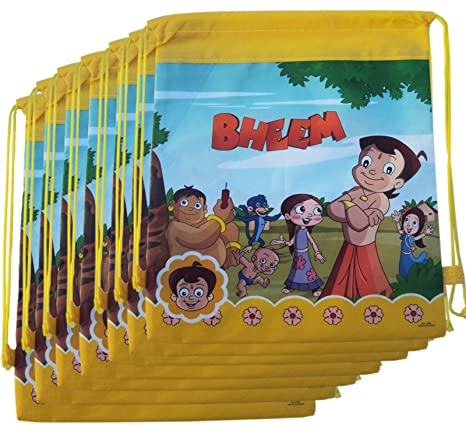 12 Pcs Chhota Bheem Dori Bag Sack Bag For Birthday Return Gifts For