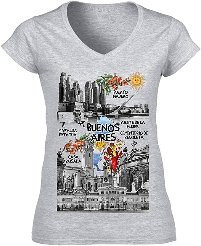 teesquare1st Argentina Buenos Aires 2 Camiseta para Mujer de ...