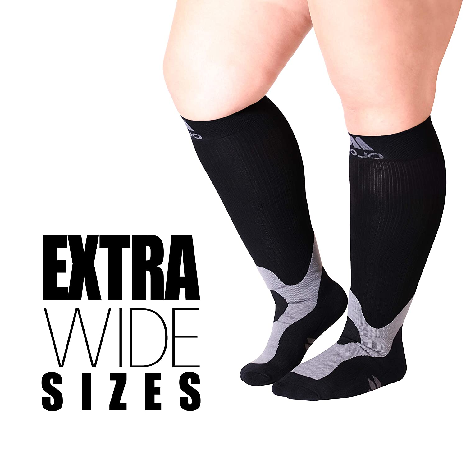 4b8c04ab7d Amazon.com: 4-XL Mojo Compression Socks™ for Large Ankle and Full ...