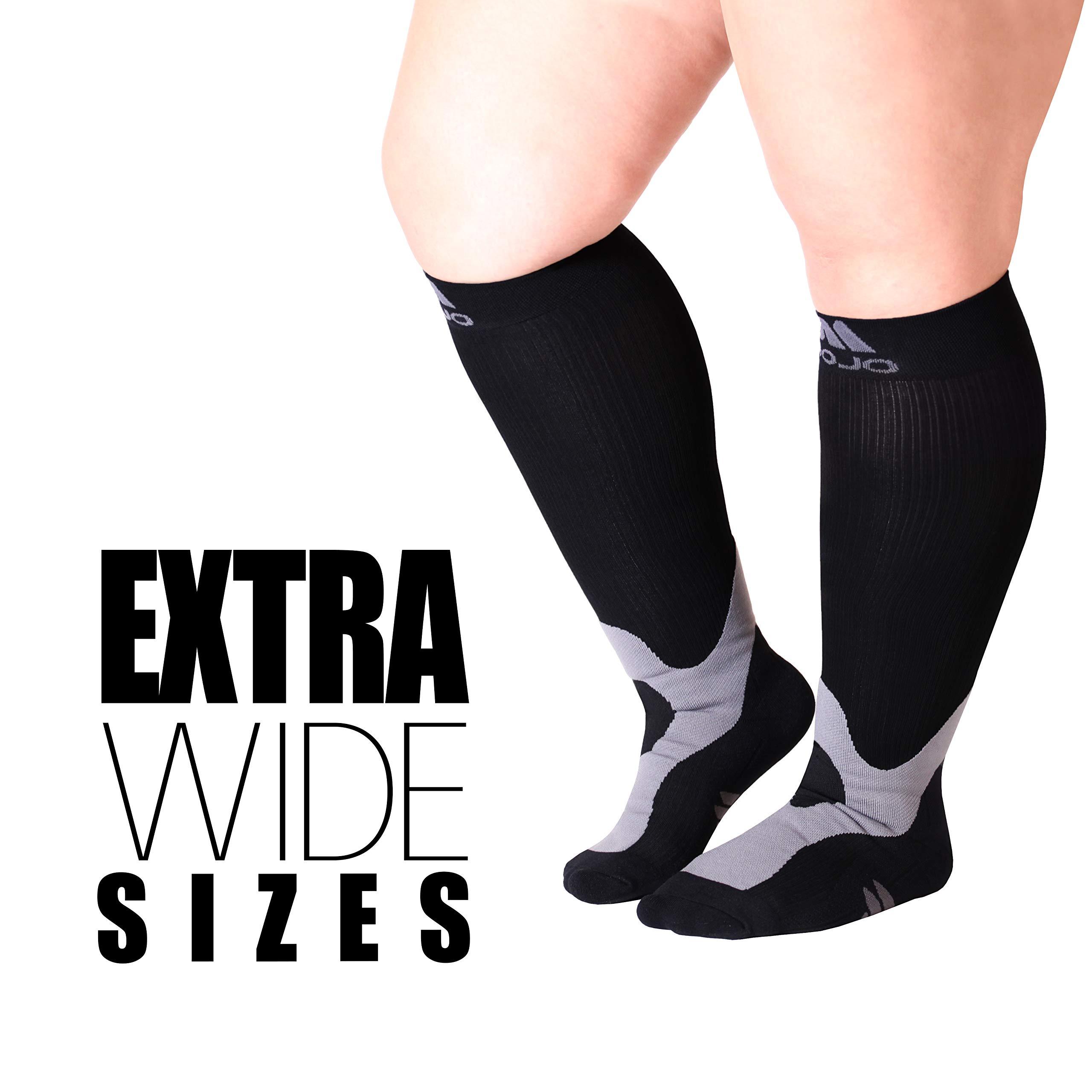 Amazoncom Xx Large Mojo Compression Socks Plus Size For Men