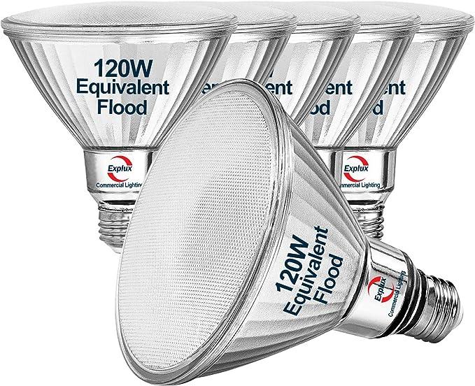 Outdoor Weather 2600 Lumens Explux 250W Equivalent LED PAR38 Flood Light Bulbs