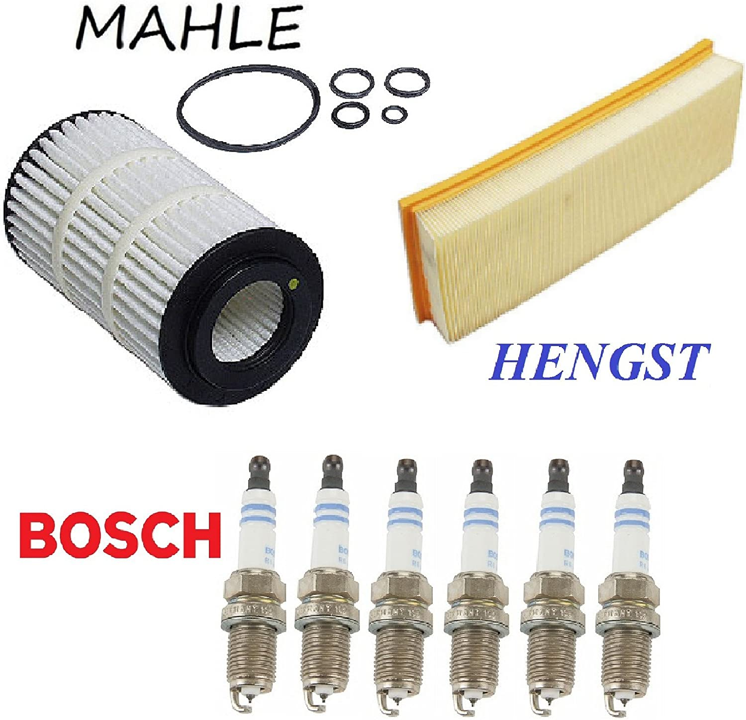 Tune Up KIT Air Engine Oil Filters Plugs for Mercedes-Benz ML350 2006-2011
