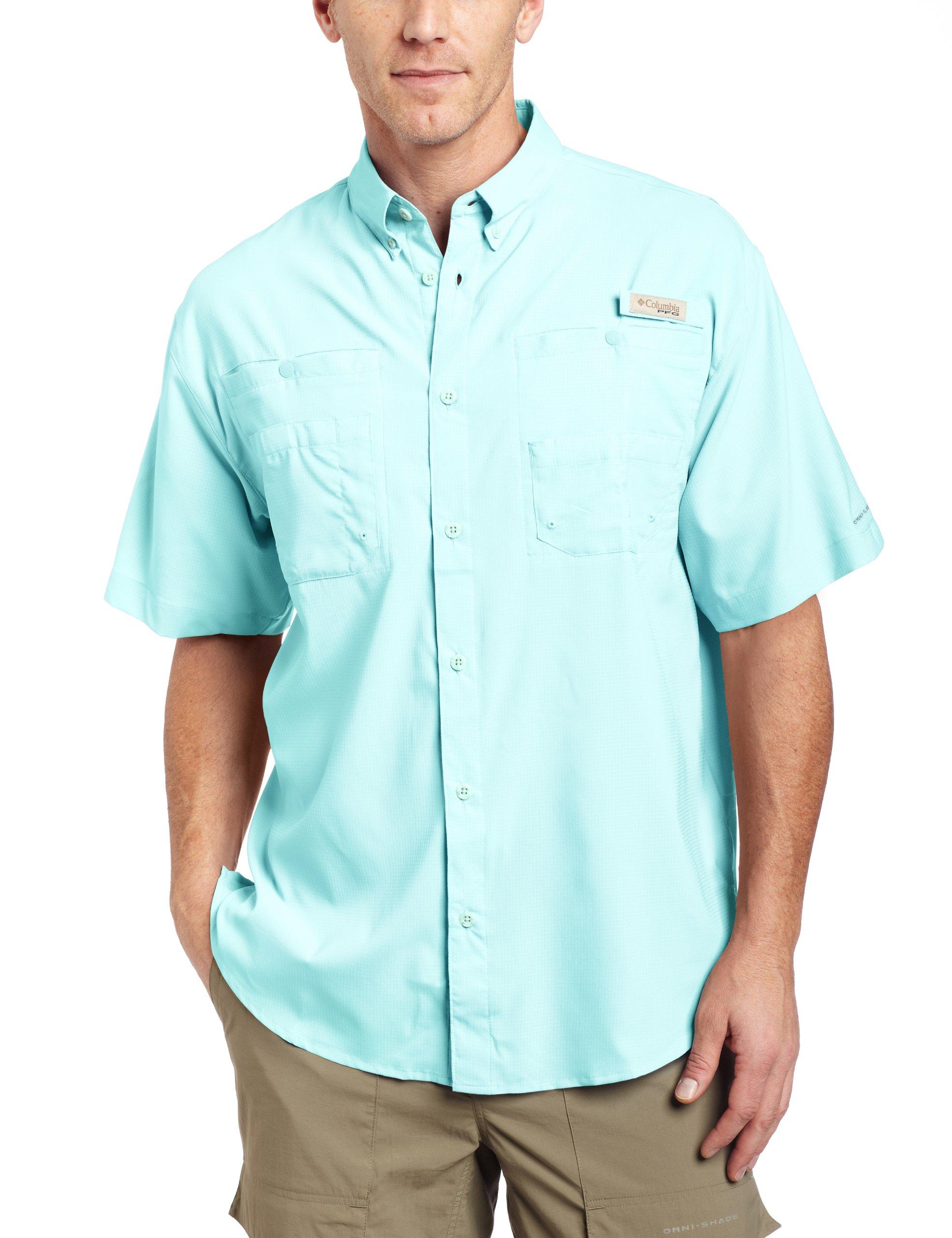 Columbia Mens Tamiami II Omni-Shade Long Sleeve Shirt Clean Green 3X 2XT
