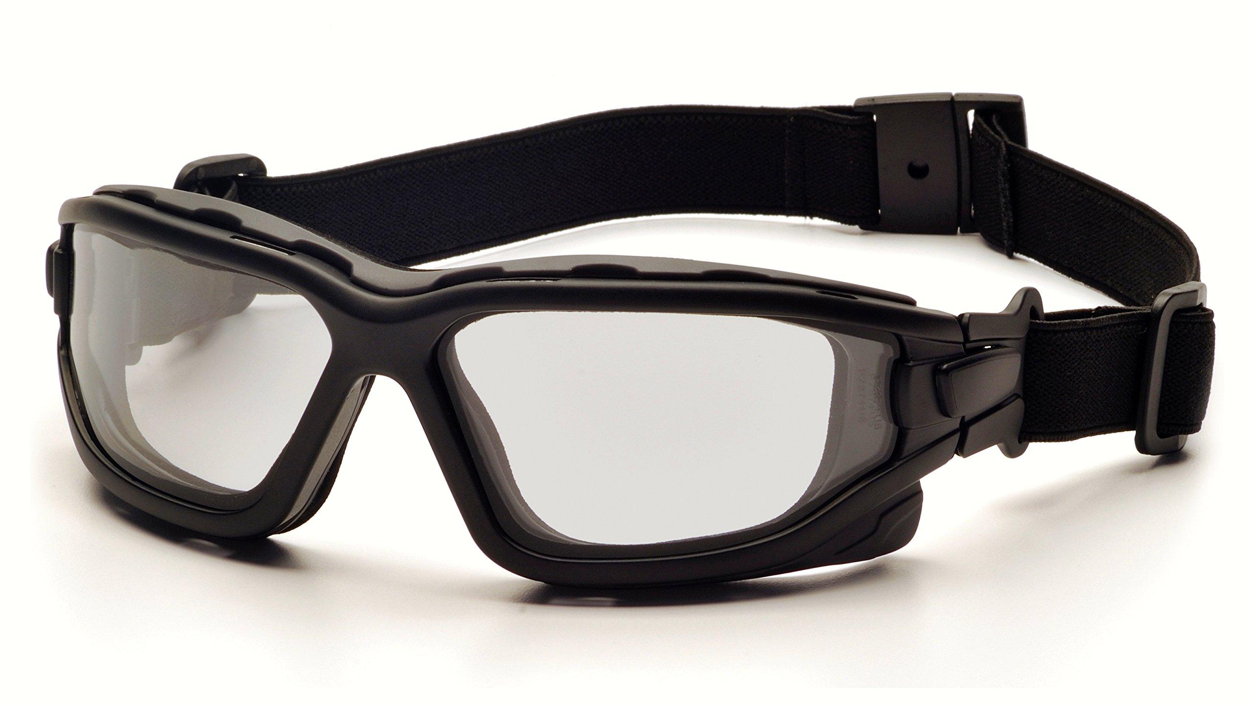 Pyramex I-Force Sporty Dual Pane  Anti-Fog Goggle, Black Frame/Clear Anti-Fog Lens by Pyramex Safety (Image #3)
