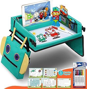 Fivejoy Vassoio da Viaggio Bambini per Auto Toddler, 2 in 1