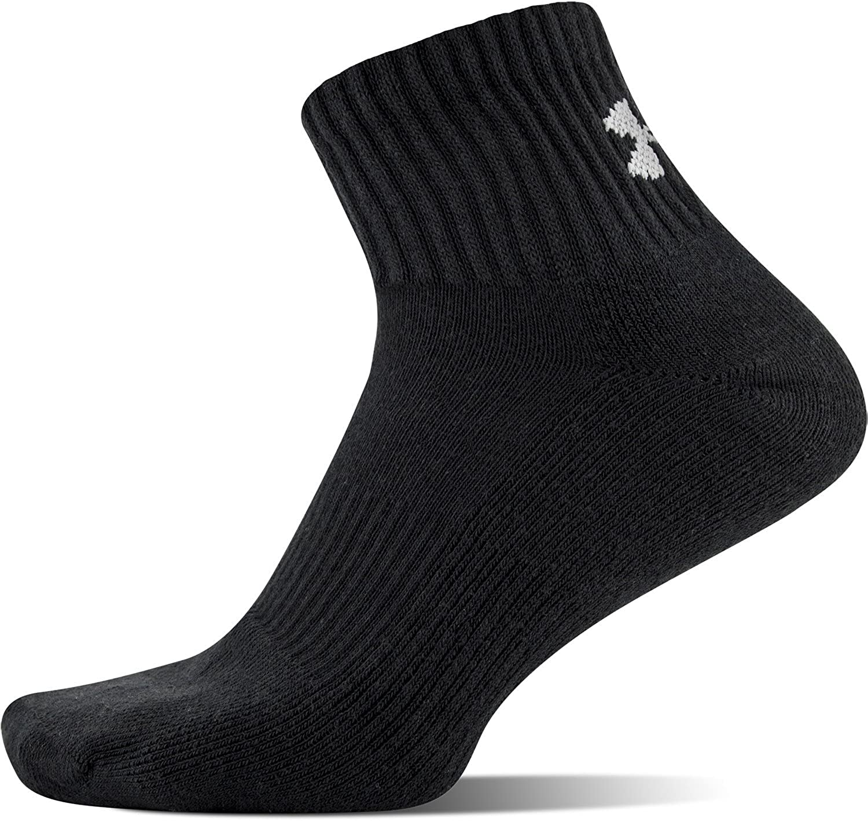 9df31a275e0dc Amazon.com: Under Armour Men's Charged Cotton 2.0 Quarter Socks: Clothing