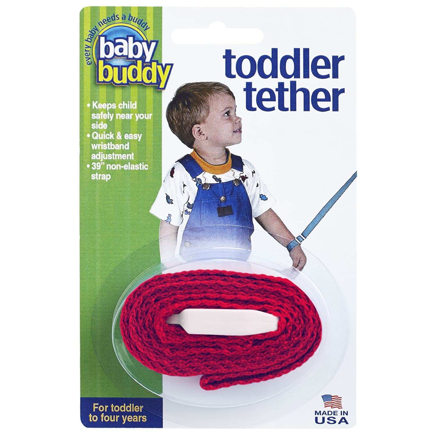 Baby Buddy Toddler Tether, Black Compac Industries 00165Bk