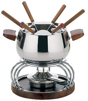 kela Armata - Juego de fondue, 11 piezas, incluye hornillo, acero, color plateado: Amazon.es: Hogar