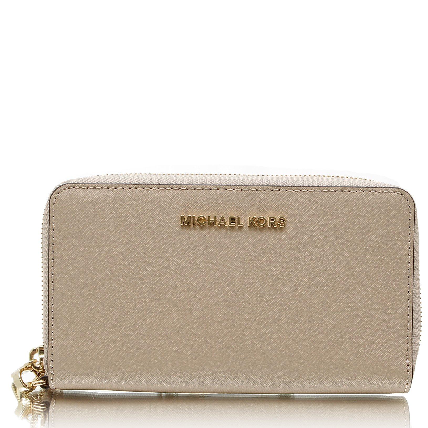 MICHAEL Michael Kors Jet Set Travel Large Flat Multifunction Wallet by Michael Kors