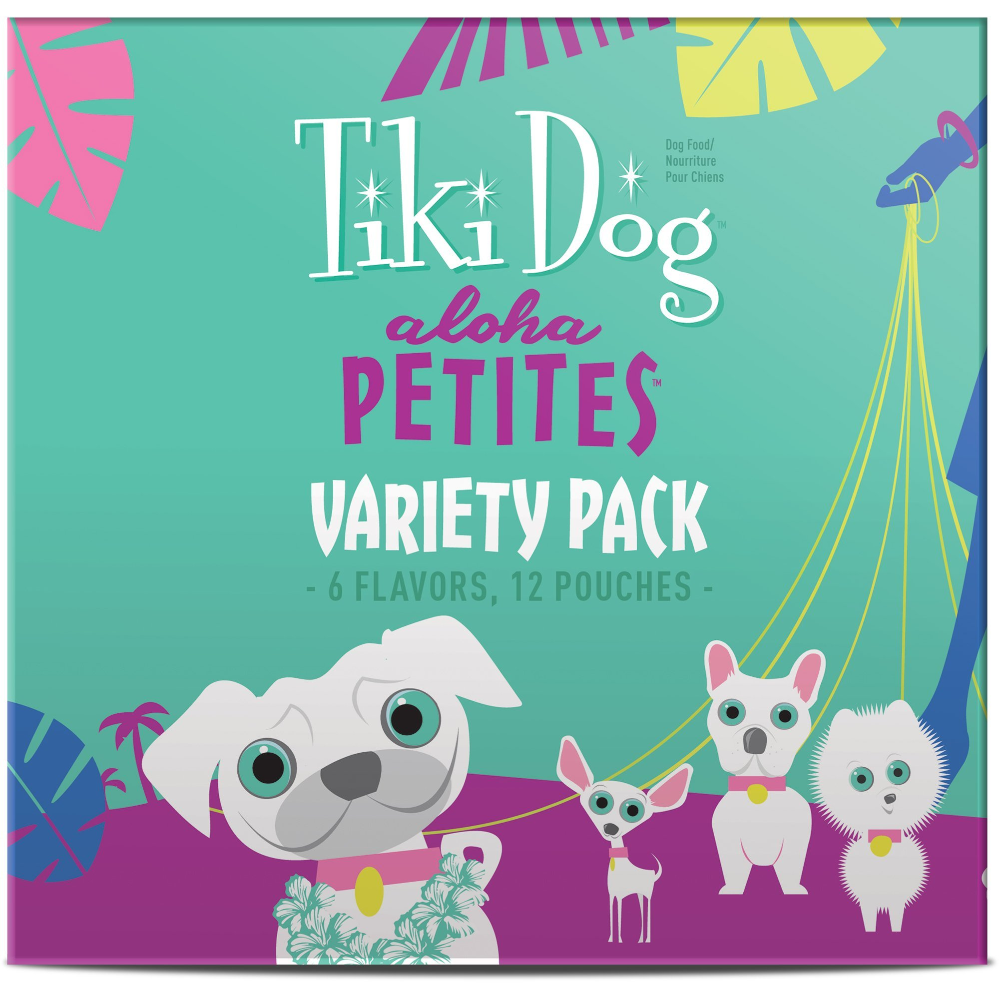 Tiki Dog Aloha Petites Variety Pack Small Breed Wet Dog Food Pouches, 3.5 oz, Case of 12