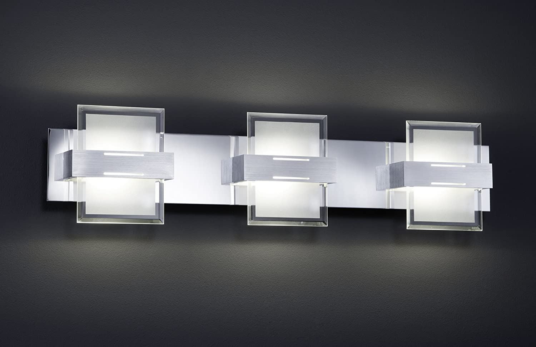 Trio Leuchten LED Wandleuchte in Chrom Chrom Chrom Aluminium, Glas, inklusiv 3 x 5W LED, Breite 50 cm, weiß satiniert klar 224610306 148d5a