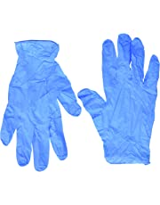 SemperGuard Blue Nitrile Disposable Gloves Powder Free Textured 4 Mil Thickness Latex Free Food & Safety Glove (Medium Box)