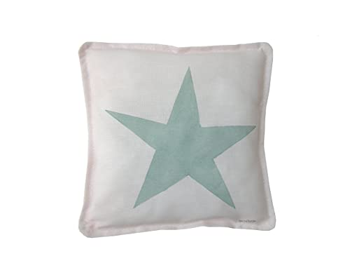Cojín estrella color mint para bebe de BeccaTextile.: Amazon ...
