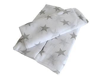3er-Pack Mullwindeln Sterne