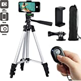 """Paladinz Phone Tripod 42"""" Inch (106 cm) Lightweight Aluminum iPhone Tripod Stand for Camera iPhone Samsung and Most Phones with Carrying Bag Universal Phone Mount Wireless Bluetooth Remote Control"""