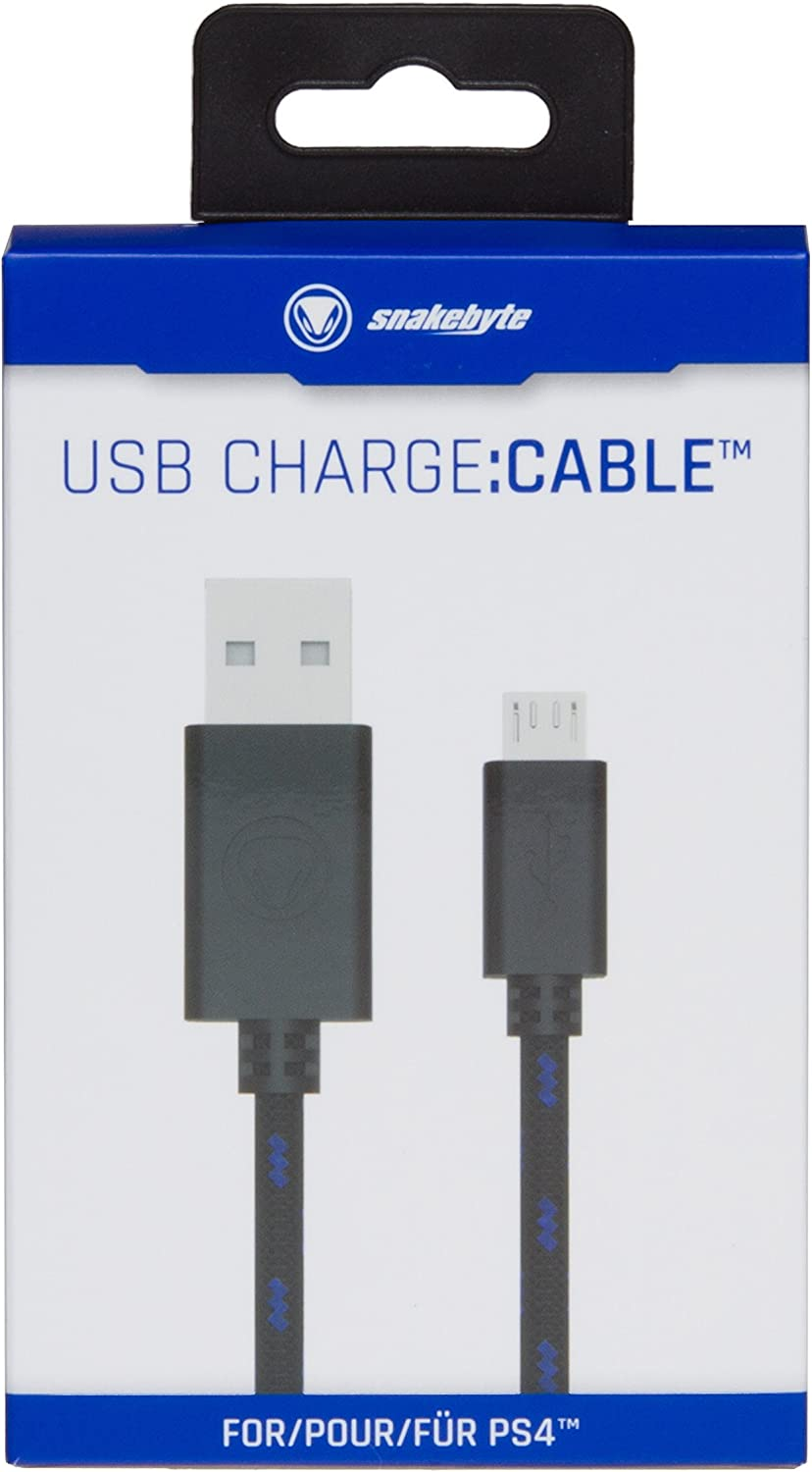 Charging Cable for PS4 Controllers Snakebyte Snakebyte USB Charge:Cable PlayStation 4 13.12 feet 4 m