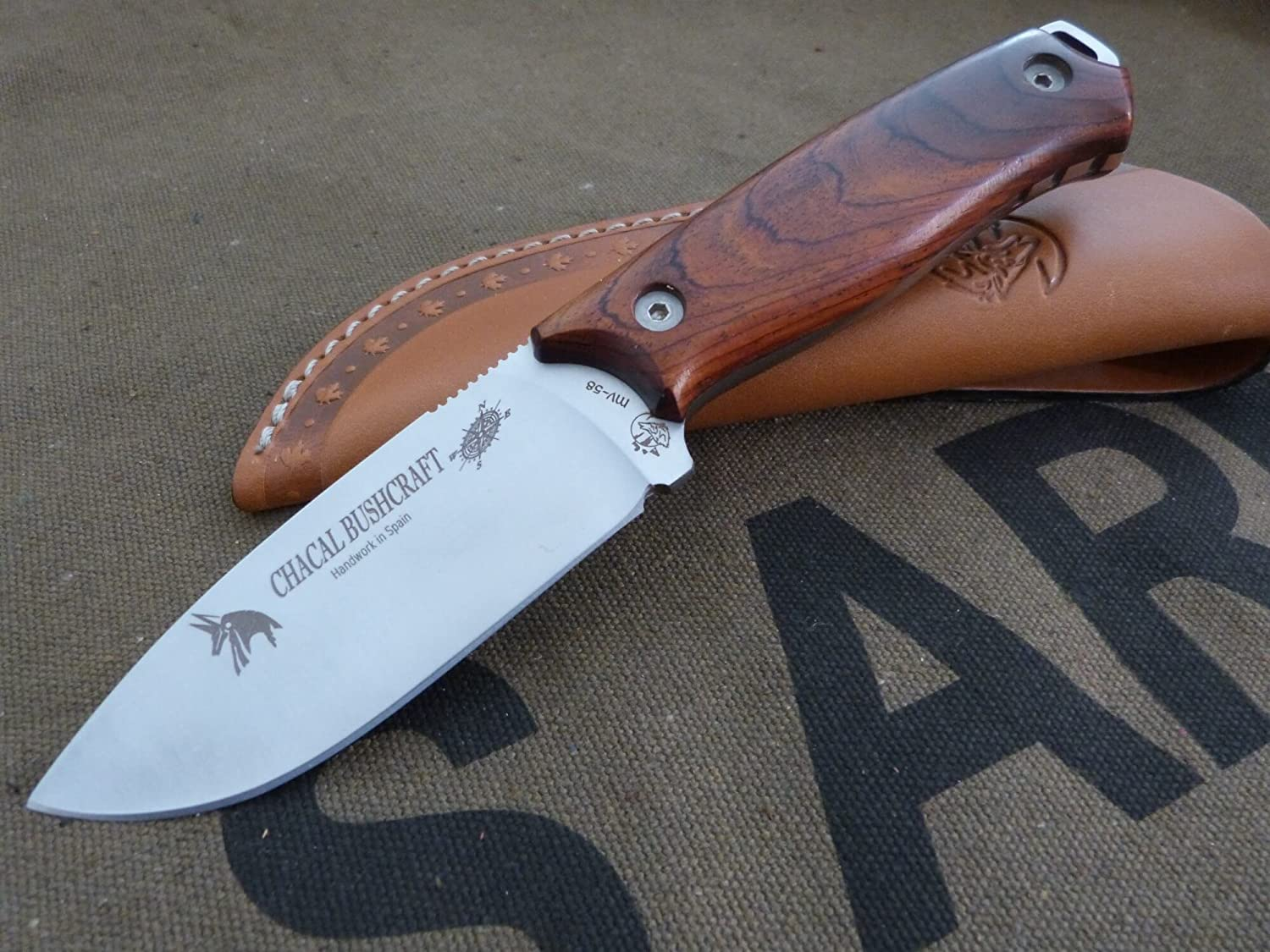 Amazon.com: JV CDA Knife model CHACAL BUSHCRAFT Cocobolo ...