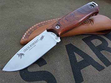 JV CDA Cuchillo CHACAL BUSHCRAFT Cocobolo: Amazon.es ...
