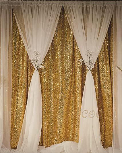 7948ba64 B-COOL Sequin Backdrop Gold 4ft x 6.5ft Sequin Photography Backdrop Wedding  Photo Booth
