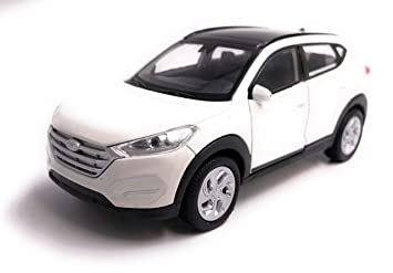 H-Customs Hyundai Tucson Model Car Auto Producto con Licencia 1: 34-1: 39 Blanco: Amazon.es: Coche y moto