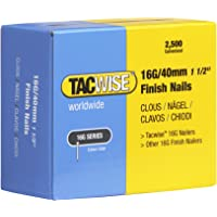 Tacwise 319 16 Gauge 40mm rechte Brad nagels afwerking nagels voor nagelpistool. (2500 doos), zilver