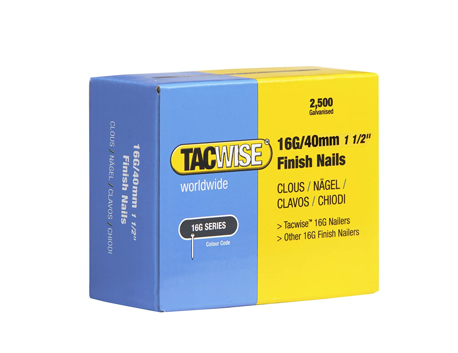 Tacwise 0301 Clavos 16 g//64 mm,