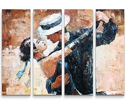 SIN-US 74 Quadro su tela 130x90cm Ballerini di Tango con il cappello  Fotografia formato 00005909da98