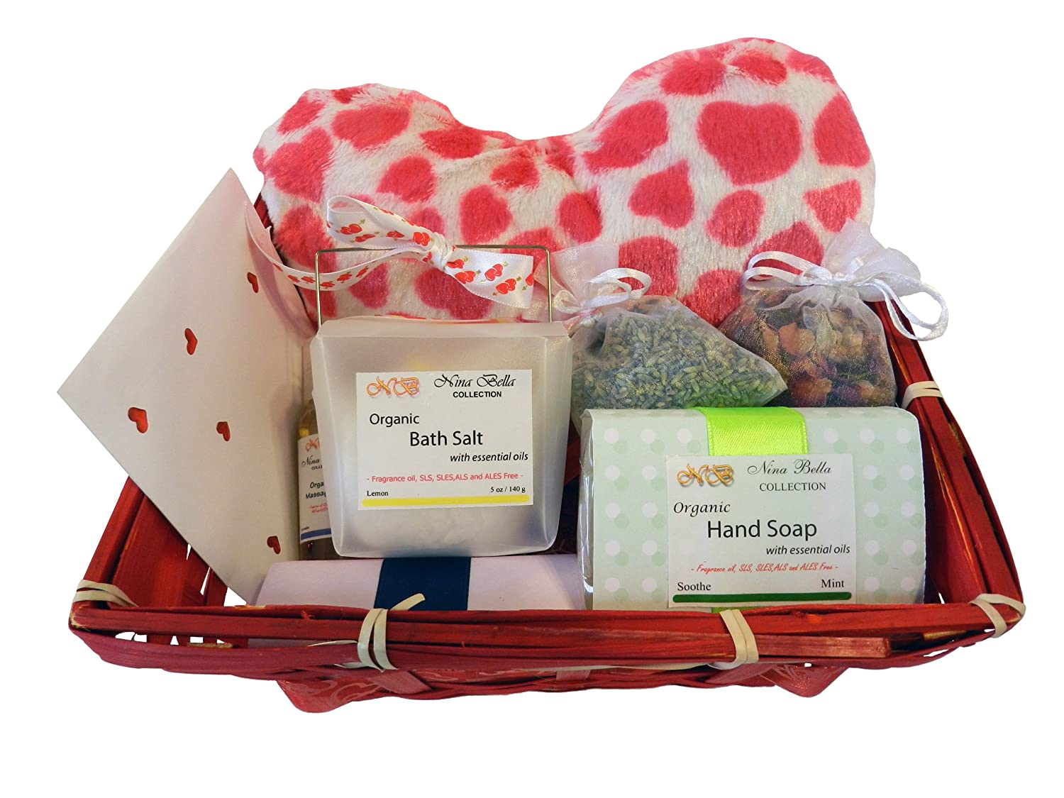 Amazon.com : I Love You Valentine's Day Deluxe Organic Gift Basket ...