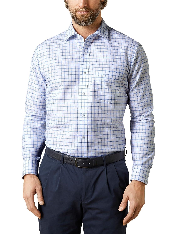 Walbusch Herren Hemd Querdenker Hemd, Langarm Stehkragen