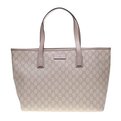 22c2d8814 Amazon.com: Gucci Supreme Canvas and Leather Zip Top Handle Bag Shoulder Tote  Handbag 211137: Shoes