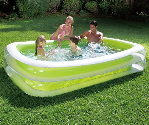 Summer Waves 8 7 x 5 9 Deluxe Family Inflatable Pool