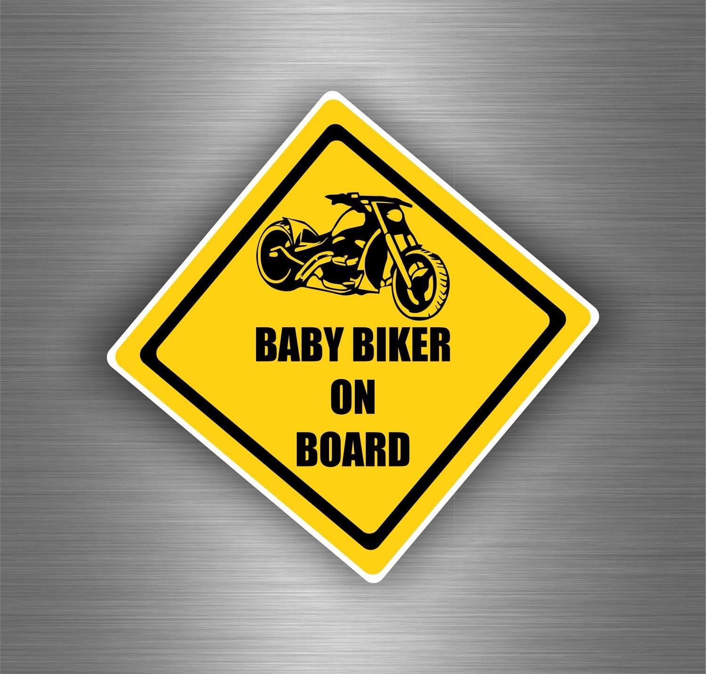 Akachafactory Autocollant Sticker Biker Motard Voiture Moto Baby Biker on Board Tuning Chopper