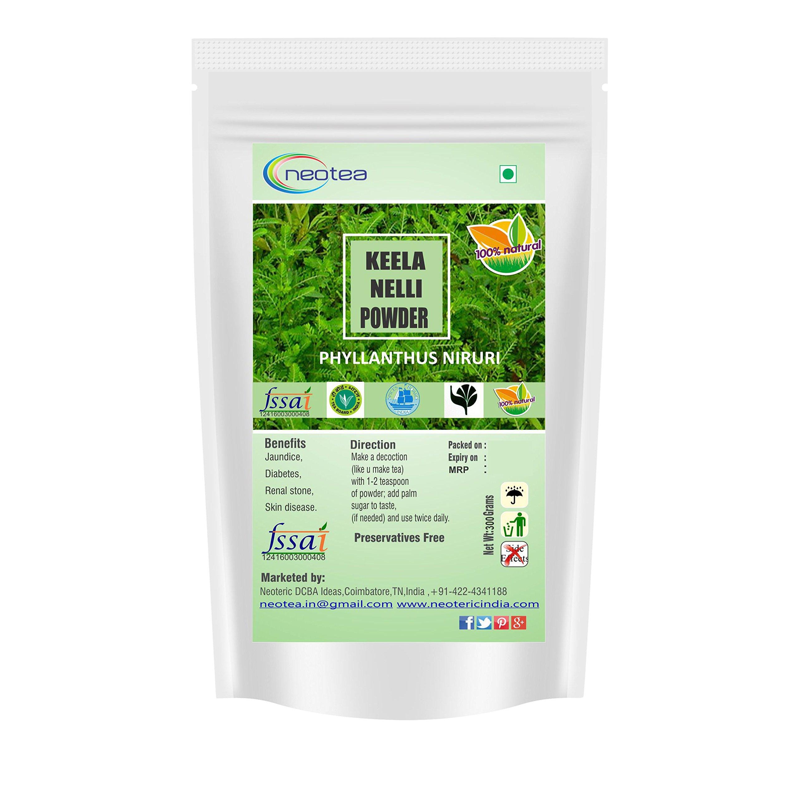 Neotea Keelanelli/Bhumyamalaki/Phyllanthus Niruri Powder – 100% Natural – Premium Quality, 300g